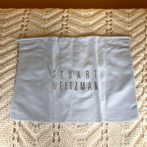Stuart Weitzman Grey Drawstring Dust Bag Cover 10.